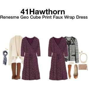 41 Hawthorn Stitchfix Renesme Faux Wrap Dress S